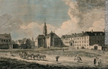 Original title:  Print A View of the Jesuits College and Church Richard Short 1760, 18th century 38.3 x 54.7 cm Gift of Mr. R. W. Humphrey M970.67.7 © McCord Museum Keywords:  Architecture (8646) , Print (10661) , religious (1331)