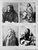 Original title:  Portraits of Crowfoot, his Cree wife Old Woman, Chief Rabbit Carrier, and Chief Bobtail.