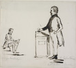 Original title:  [Caricature Sketch of Louis-Hippolyte Lafontaine and William Lyon Mackenzie].
