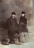 Original title:  Photograph Mr. & Mrs. Charles Fleetford Sise and their dog, Montreal, QC, 1884 William Notman & Son 1864, 19th century Silver salts on paper - Albumen process 13.9 x 9.8 cm II-72261.1 © McCord Museum Description Keywords:  couple (556) , Photograph (77678) , portrait (53878)