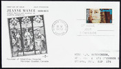 Original title:  Jeanne Mance [philatelic record].  Philatelic issue data Canada : 8 cents