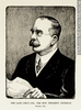 Original title:  Print THE LATE LIEUT.-COL. THE HON. FREDERIC NICHOLLS Toronto, Ont. Arthur George Racey 1922, 20th century Ink on paper - Photoengraving 30.2 x 22.8 cm Gift of Mr. David Ross McCord M20111.109 © McCord Museum Keywords:  Cartoon (19139) , portrait (53878) , Print (10661)