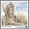 Titre original :  Membertou, 1607 [philatelic record] = [Title in Mi'kmaq characters]. Philatelic issue data Canada : 52 cents Date of issue 26 Jul. 2007