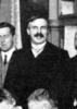 Original title:    Crop of Ernest Rutherford at the first Solvay Conference, 1911. See Image:1911 Solvay conference.jpg for the full image.