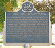 Original title:    Description Plaque about the life of George Hamilton (eponymous founder of Hamilton, Ontario) in Hamilton, Ontario Date 24 October 2007 Source Own work Author User:Saforrest Permission (Reusing this file) GFDL/CC-by-SA 3.0  Camera location 43° 15′ 17.18″ N, 79° 52′ 3.96″ W This and other images at their locations on: Google Maps - Google Earth - OpenStreetMap (Info)43.254771668317986;-79.86776769161224