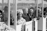 Original title:  Her Majesty Queen Elizabeth II and Prime Minister of Canada Lester B. Pearson in the minirail at Expo 67.