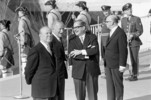 Original title:  Closing ceremonies of Expo 67 with Prime Minister of Canada Lester B. Pearson, Governor General Roland Michener, Prime Minister of Quebec Daniel Johnson and Maire of Montreal, Jean Drapeau.