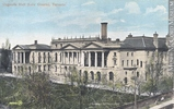 Original title:  Print (photomechanical) Osgoode Hall Law Courts, Toronto, ON, about 1910 1906-1914, 20th century Coloured ink on paper mounted on card - Photolithography 8.8 x 13.7 cm Gift of Mr. Stanley G. Triggs MP-0000.772.11 © McCord Museum Keywords:  Architecture (8646) , civic (349) , Print (10661)