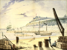 Titre original :  King's Wharf ca. 1827-1841, Quebec City, Quebec