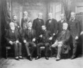 Original title:  Mr. Mulock's group. [Lord Strathcona seated left and Sir William Mulock seated 2nd from left.].