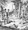 Original title:    Description John Graves Simcoe and Augustus Jones, supervising the Queen's Rangers of York cutting trees during the construction of Yonge Street, 1795 Date 1795 (scene depicted) Source This image is available from Library and Archives Canada under the reproduction reference number C-073665 and under the MIKAN ID number 2835216 This tag does not indicate the copyright status of the attached work. A normal copyright tag is still required. See Commons:Licensing for more information. Library and Archives Canada does not allow free use of its copyrighted works. See Category:Images from Library and Archives Canada. Author Charles William Jefferys (1869–1951) Alternative names C. W. Jefferys Description Canadian painter, illustrator, author and teacher Date of birth/death 25 August 1869(1869-08-25) 8 October 1951(1951-10-08) Location of birth/death Rochester, Kent Toronto Permission (R