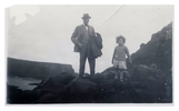 Original title:  W.J. Pentland and his son William Thomas on a visit to Ireland. Image courtesy of the grandchildren of W.J. Pentland.