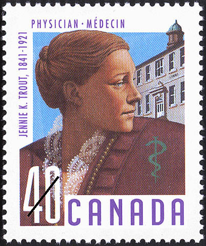 Jennie Trout on Canada Post stamp
