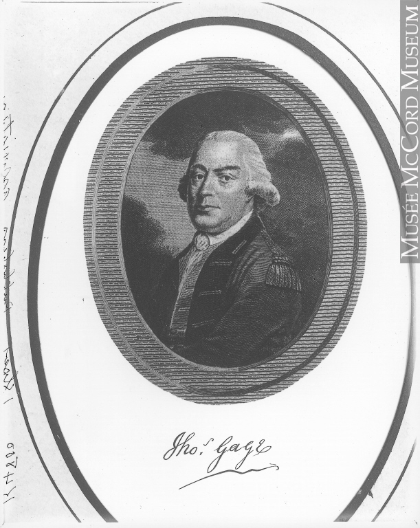 general thomas gage biography John hancock was an 18th century us merchant who was president of the continental congress and  yet hancock and adams were hunted by british general thomas gage.