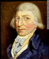 Titre original :  Painting Benjamin Frobisher Donald Hill About 1922, 20th century 30.3 x 25.4 cm Gift of Mr. David Ross McCord M1596 © McCord Museum Keywords:  male (26812) , Painting (2229) , painting (2226) , portrait (53878)