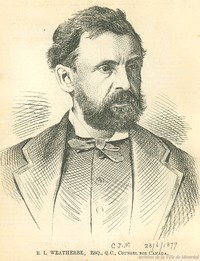 Original title:  Sir Robert Linton Weatherbe . - 1877 - Archives de Montréal