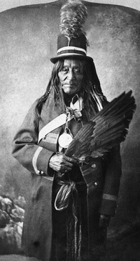 Original title:  Old Sun, head chief of the North Blackfoot (Siksika), Alberta. 1883. Image courtesy of Glenbow Museum, Calgary, Alberta.