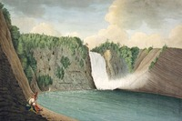 Original title:    Description A View of the Montmorency Falls near Quebec Date 1791(1791) Source [1] Author Thomas Davies Permission (Reusing this file) Public domainPublic domainfalsefalse This image (or other media file) is in the public domain because its copyright has expired. This applies to Australia, the European Union and those countries with a copyright term of life of the author plus 70 years. You must also include a United States public domain tag to indicate why this work is in the public domain in the United States. Note that a few countries have copyright terms longer than 70 years: Mexico has 100 years, Colombia has 80 years, and Guatemala and Samoa have 75 years, Soviet Union has 74 years for some authors. This image may not be in the public domain in these countries, which moreover do not implement the rule of the shorter term. Côte d'Ivoire has a general copyright term of 99 yea