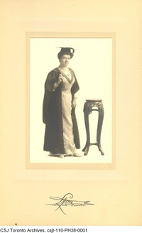Original title:  Gertrude Lawler, c. 1890 or 1892. Courtesy of the Sisters of St. Joseph of Toronto Archives (CSJTA).