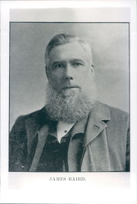 Titre original :  James Baird. Image courtesy of Memorial University Libraries, St. John's, Newfoundland and Labrador.  Original image found in Newfoundland men : a collection of biographical sketches, with portraits of sons and residents of the island who have become known in commercial, professional, and political life. Henry Youmans Mott 1856-1946. Concord, N.H. : Cragg 1894.
