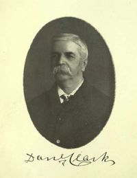 Original title:  Daniel Clark. From: Commemorative biographical record of the county of York, Ontario: containing biographical sketches of prominent and representative citizens and many of the early settled families by J.H. Beers & Co, 1907. https://archive.org/details/recordcountyyork00beeruoft/page/n4