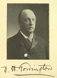 Titre original :  Frederick Herbert Torrington. From: Commemorative biographical record of the county of York, Ontario: containing biographical sketches of prominent and representative citizens and many of the early settled families by J.H. Beers & Co, 1907. https://archive.org/details/recordcountyyork00beeruoft/page/n4