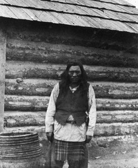 Original title:  Chief Isadore, Kootenay chief. Date: [ca. 1887]. Image courtesy of Glenbow Museum, Calgary, Alberta.