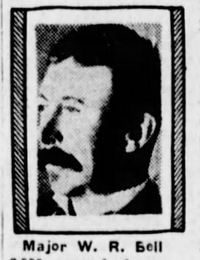 Original title:  Major W. R. Bell. From: The Winnipeg Tribune (Winnipeg, Manitoba, Canada), Nov 12, 1932, page 13.
