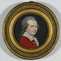Original title:  William Berczy, Self-portrait. Maker: William Berczy (1744-1813).  Medium: Watercolour and gouache on ivory [bone?]. Courtesy of the Royal Ontario Museum, © ROM.
