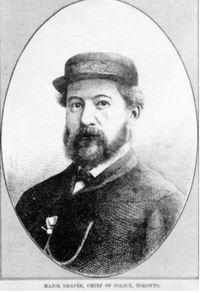Titre original :  Major Draper, Chief of Police, Toronto. This image is from the Canadian Illustrated News, 1869-1883, held in the Library and Archives Canada.