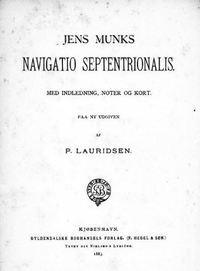 Original title:  Jens Munks, Navigatio Septentrionalis, 1883 edition. Source: https://archive.org/details/cihm_19000/page/n7/mode/2up.