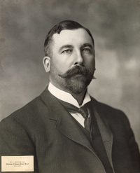 "Original title:  ""Robert John Hutchings, Calgary, Alberta"", ca. 1900s, [PC-111-6], by Cockburn. Courtesy of the Glenbow Archives, Archives and Special Collections, University of Calgary."