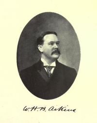 Titre original :  W.H.B. Aikins. From: Commemorative biographical record of the county of York, Ontario : containing biographical sketches of prominent and representative citizens and many of the early settled families, illustrated. Toronto : J.H. Beers, 1907. Source: https://archive.org/details/commemorativebio00torouoft/page/352/mode/2up.