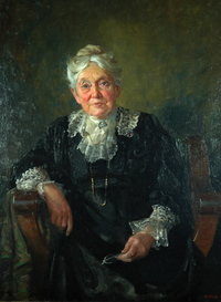 Original title:  Portrait of Janet Carnochan by E. Wyly Grier, done in 1920-21. Courtesy of the Niagara-on-the-Lake Museum.