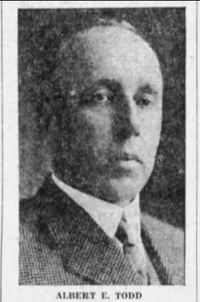 Titre original :  Albert E. Todd. From the Times Colonist, 26 October 1928, page 1.