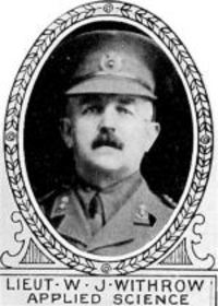 Original title:  Photo of William Withrow. From: The Varsity Magazine Supplement Fourth Edition 1918 published by The Students Administrative Council, University of Toronto.   Submitted for the Soldiers' Tower Committee, University of Toronto, by Operation Picture Me.