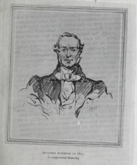 Original title:  Benjamin Bowring in 1811: a conjectural drawing. From: Benjamin Bowring and his descendants, a record of mercantile achievement, with a foreword by the Hon. Sir Edgar R. Bowring ... by Arthur C. Wardle. London, Hodder and Stoughton, 1938. Source: https://archive.org/details/benjaminbowringh00ward/page/18/mode/2up