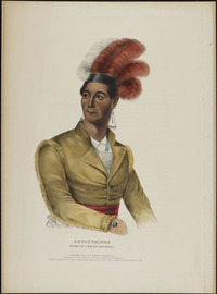 Original title:  Ahyouwaighs, Chief of the Six Nations  [John Brant]