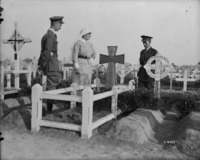 Original title:  Graves of Maj.-Gen. M.S. Mercer, 3rd Div. & Lt. E.S. Batterell, 15th Infantry Bn. May 1918.