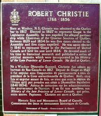 Original title:  Windsor: Robert Christie plaque