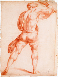 Titre original :    Description English: Rear View of a Man Brandishing a Whip, from « Le Martyre de saint André » (between 1778 and 1781) Red chalk on paper 60.5 x 45.5 cm Français : Homme vu de dos, brandissant un fouet d'après « Le Martyre de saint André » (entre 1778 et 1781) Sanguine sur papier 60,5 x 45,5 cm Date 1778-1781 Source Musée national des beaux-arts du Québec. Coll.: MNBAQ (75.242) Author François Baillairgé (1759-1830) Permission (Reusing this file) Public domainPublic domainfalsefalse This Canadian work is in the public domain in Canada because its copyright has expired due to one of the following: 1. it was subject to Crown copyright and was first published more than 50 years ago, or it was not subject to Crown copyright, and 2. it is a photograph that was created prior to January 1, 1949, or 3. the creator died more than 50 years ago. Česky | Deutsch | English | Español | Suomi