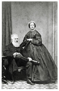 Original title:  Portrait of Samuel Bealey Harrison and Mrs. Samuel Bealey Harrison.