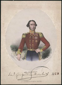Titre original :  His Excellency Sir J. Gaspard Le Marchant, Lt. Governor of Nova Scotia.