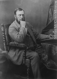 Original title:  Photograph Mr. Duder, Montreal, QC, 1881 Notman & Sandham 1881, 19th century Silver salts on paper mounted on paper - Albumen process 15 x 10 cm Purchase from Associated Screen News Ltd. II-61757.1 © McCord Museum Keywords:  male (26812) , Photograph (77678) , portrait (53878)