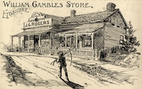 Original title:  William Gamble's Store, Etobicoke (Toronto); Author: Thomson, William James (Canadian, 1858-1927); Author: Year/Format: 1893, Picture