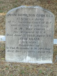 Original title:    Description Grave marker of John Hamilton Gray at Ross Bay Cemetery, Victoria BC. Date 4 September 2006(2006-09-04) Source Own work Author KenWalker kgw@lunar.ca Permission (Reusing this file) CC-BY-SA-2.5