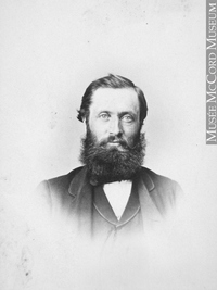 Original title:  Photograph Andrew Robertson, Montreal, QC, 1864 William Notman (1826-1891) 1864, 19th century Silver salts on paper - Albumen process 8.5 x 5.6 cm Purchase from Associated Screen News Ltd. I-11622.1 © McCord Museum Keywords:  male (26812) , Photograph (77678) , portrait (53878)
