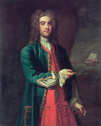 Titre original :    Description English: Vice-Admiral Fitzroy Henry Lee (1699-1750) oil on canvas 127 x 101.6 cm ca. 1725 inscribed b.r.: Adml. Lee Date circa 1725 Source Royal Museums Greenwich Author British school of the 18th century