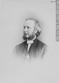 Original title:  Photograph Rev. Dr. Jenkins, Montreal, QC, 1866-67 William Notman (1826-1891) 1866-1867, 19th century Silver salts on paper mounted on paper - Albumen process 14 x 10 cm Purchase from Associated Screen News Ltd. I-24051.1 © McCord Museum Keywords:  male (26812) , Photograph (77678) , portrait (53878)