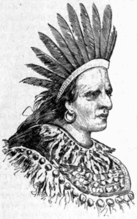 Titre original :    Description Portrait of Oneida chief Swatane (a.k.a. Shikellimy) Date published 1889 Source Appletons' Cyclopædia of American Biography, v. 6, 1889, p. 5 Author Jacques Reich (probably based on an earlier work by another artist) Permission (Reusing this file) Public domainPublic domainfalsefalse This work is in the public domain in the United States because it was published (or registered with the U.S. Copyright Office) before January 1, 1923. Public domain works must be out of copyright in both the United States and in the source country of the work in order to be hosted on the Commons. If the work is not a U.S. work, the file must have an additional copyright tag indicating the copyright status in the source country. العربية | Български | Česky | Dansk | Deutsch | Ελληνικά | English | Español | فارسی | Français | Magyar | Italiano | 日本語 | 한국어 | Lietuvių | Македонски | മലയാളം |